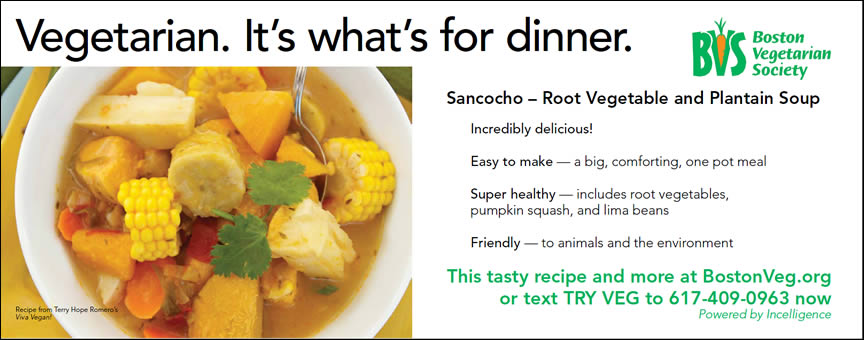 Ad: Vegetarian. It's what's for dinner.