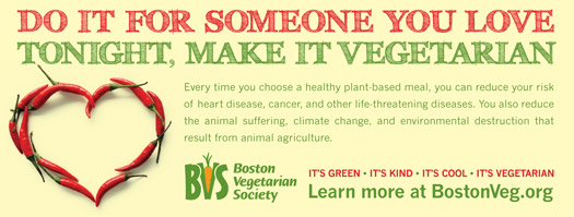 Ad: Do it for someone you love. Tonight, make it vegetarian.