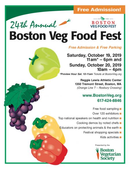 Boston Veg Food Fest flyer