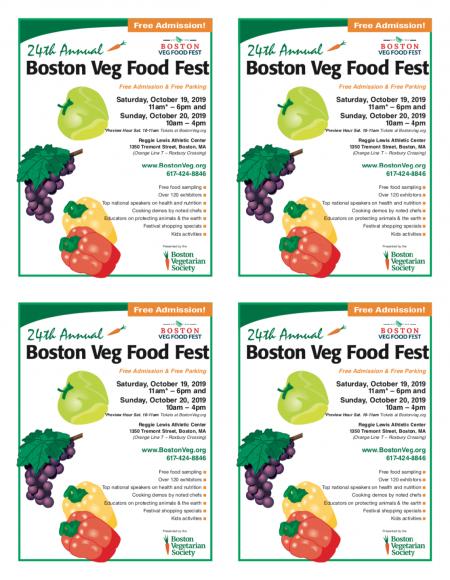 Boston Veg Food Fest leaflets