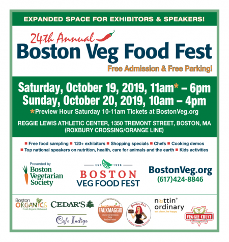 Boston Veg Food Fest 2019 subway ad