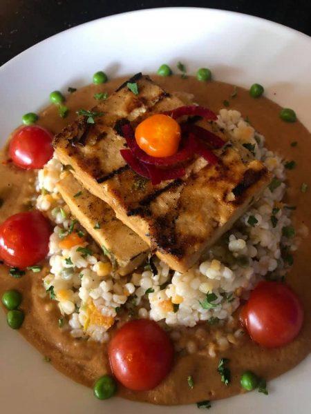 Walnut Grille tofu rice