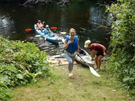 People canoeing at the BVS picnic