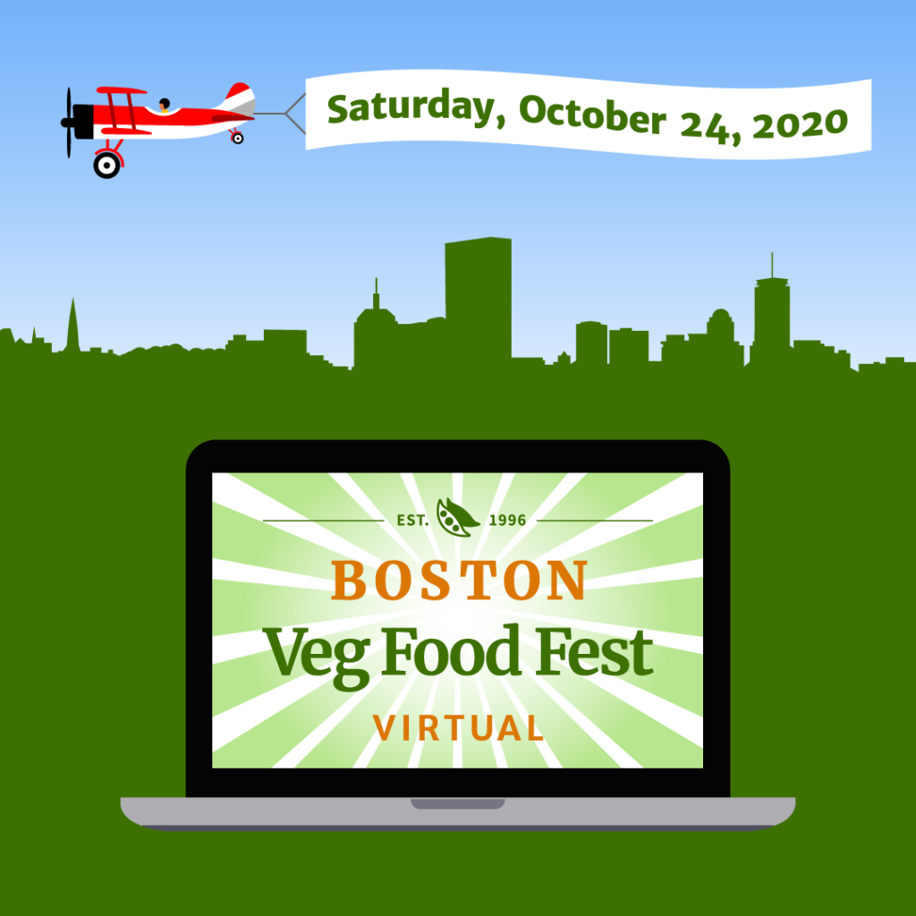 Boston Veg Food Fest, October 24, 2020, virtual vegan marketplace and more