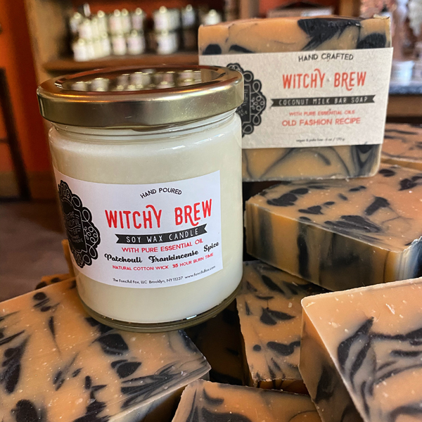 Fanciful Fox Witches Brew soy wax candle