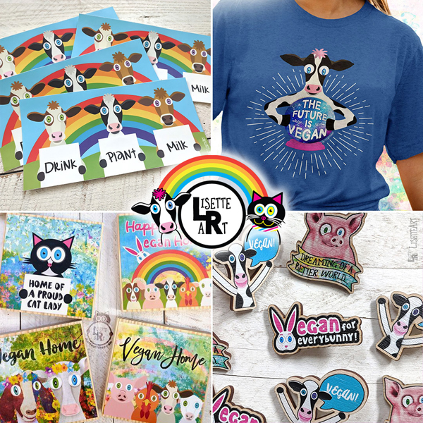 Lisette Art Shop t-shirts and magnets