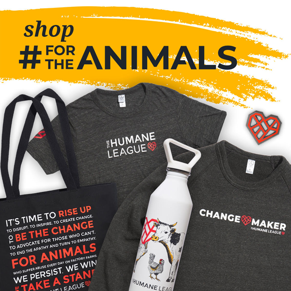 Humane League, shop for the animals, t-shirts, tote bag, water bottle
