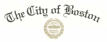 City of Boston Proclamation document